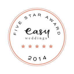 Cherbon Waters Weddings Easy Weddings five star review badge 2014