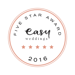 Cherbon Waters Weddings Easy Weddings five star review badge 2016