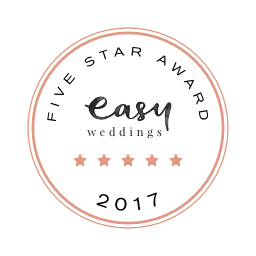 Cherbon Waters Weddings Easy Weddings five star review badge 2017