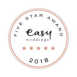 Cherbon Waters Weddings Easy Weddings five star review badge 2018