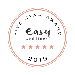 Cherbon Waters Weddings Easy Weddings five star review badge 2019
